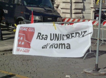 "Fisac Cgil Ubis Roma – comunicato ""Beati loro"""